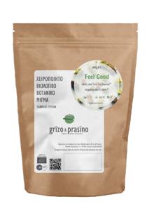 """Package of dried herbal tea called """"Feel Good"""""""