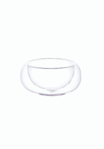 Unitea strainer holder, made from glass